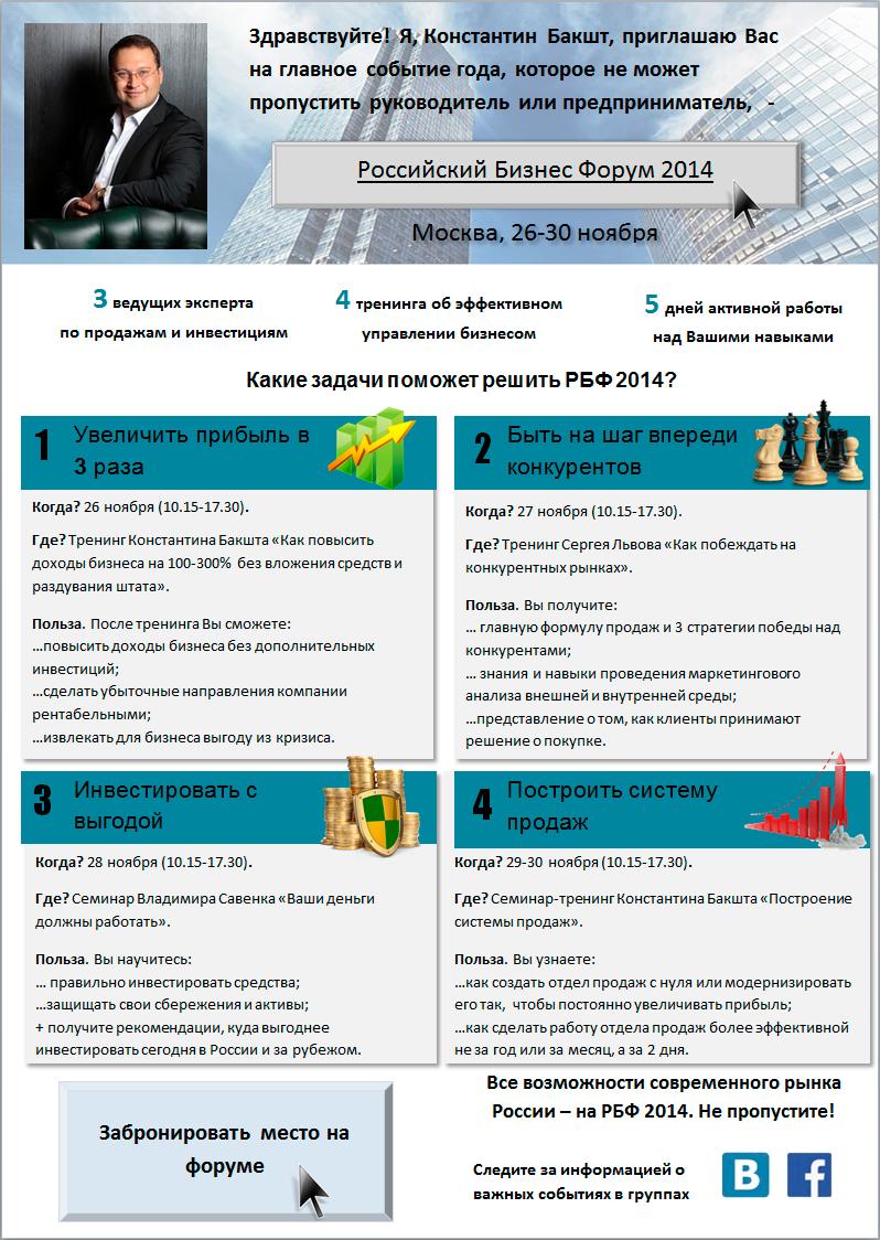 Российский Бизнес Форум 2014