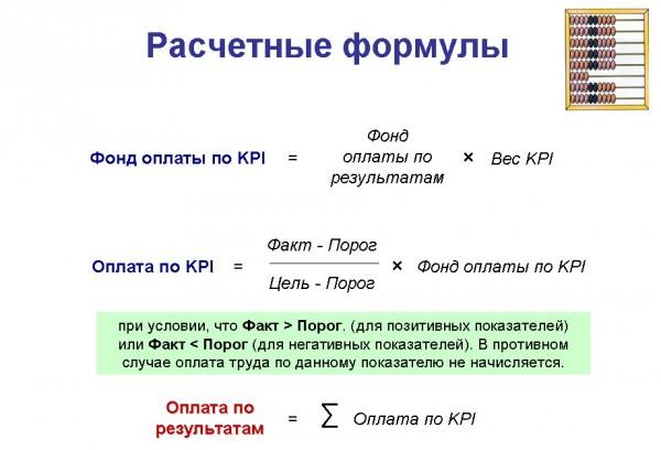 Расчетные формулы для KPI -3