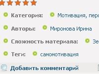 """Новые отметки для статей """"Сложность"""" и """"Теги"""""""