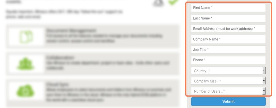 """Пример """"сложной"""" формы отправки заявки с сайта"""
