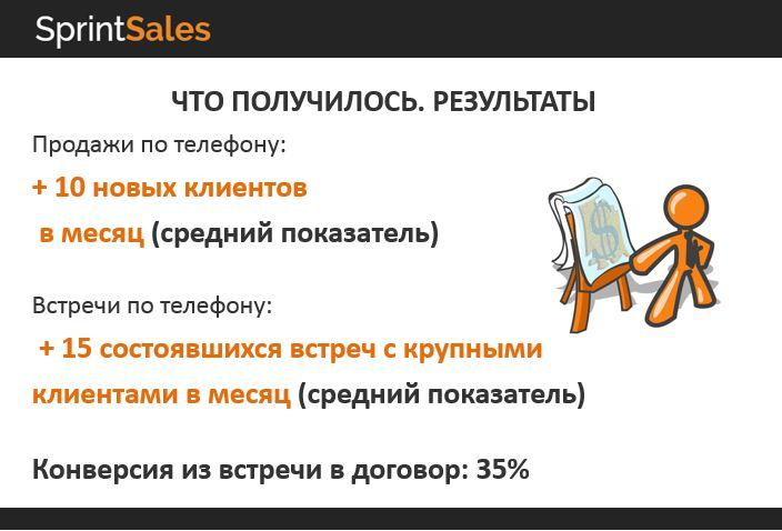 Продажи по телефону результаты