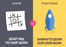 13 отличий занятого человека от продуктивного