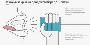 Метод закрытия продаж Whisper / Нашептывание